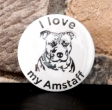 Button I love my amstaff